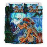 Bedding Set - Black - Raging Princess Mononoke