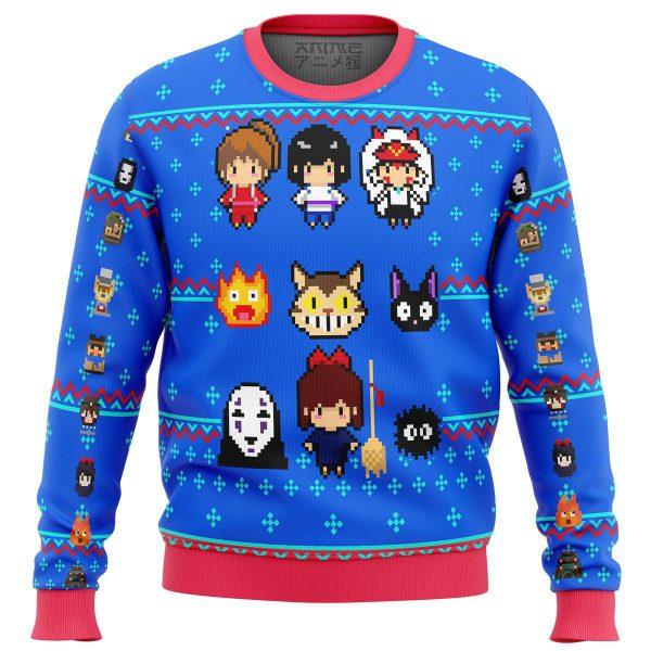 Studio Ghibli Blue Premium Ugly Christmas Sweater