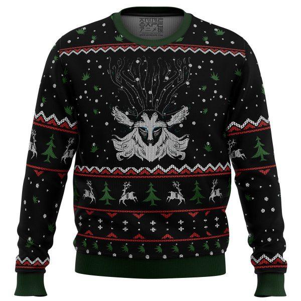 Forest Spirit Princess Mononoke Miyazaki Premium Ugly Christmas Sweater