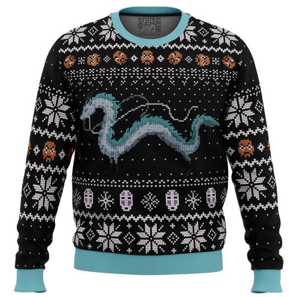Studio Ghibli Haku Spirits Miyazaki Ugly Christmas Sweater