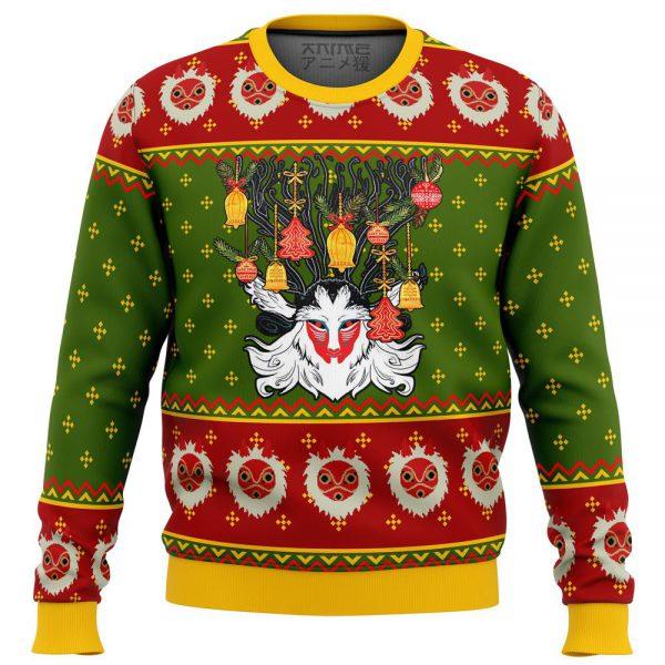 Princess Mononoke Xmas Forest Spirit Premium Ugly Christmas Sweater