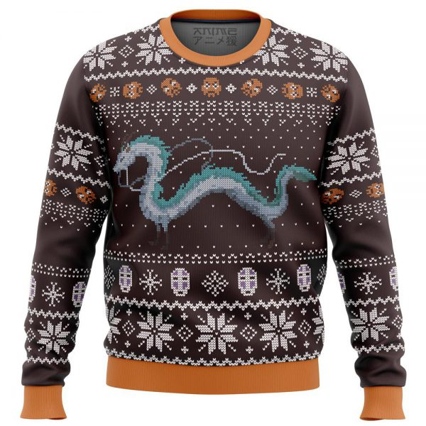 Haku Dragon Ugly Christmas Sweater