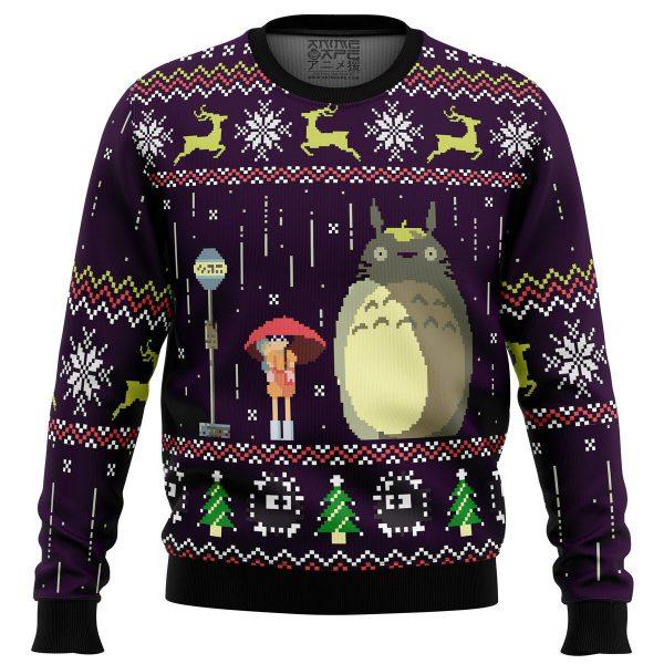 Totoro Rain Miyazaki Premium Ugly Christmas Sweater