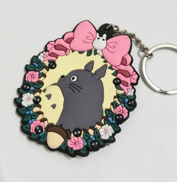 Totoro With Bus Stop Keychain