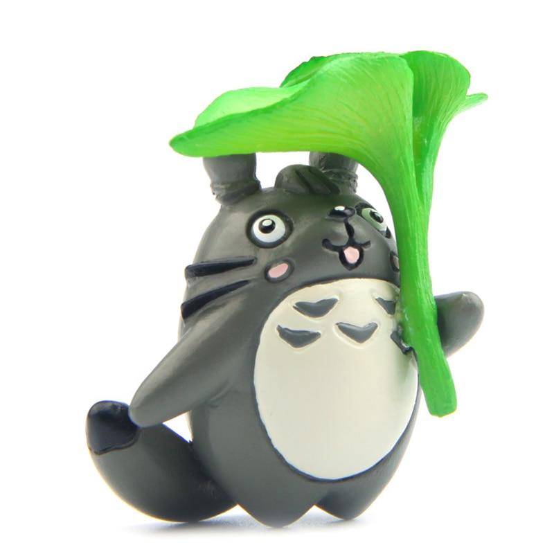 4cm Take Green Leaf Totoro Figure Toys PVC