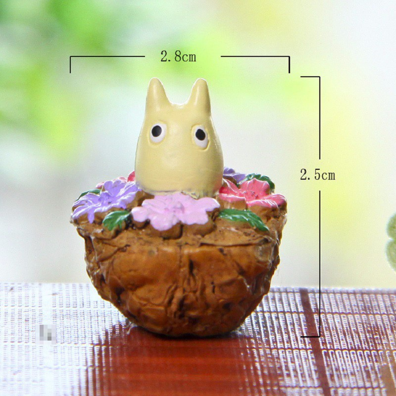 8pcs/lot Walnut Mei Blue Totoro