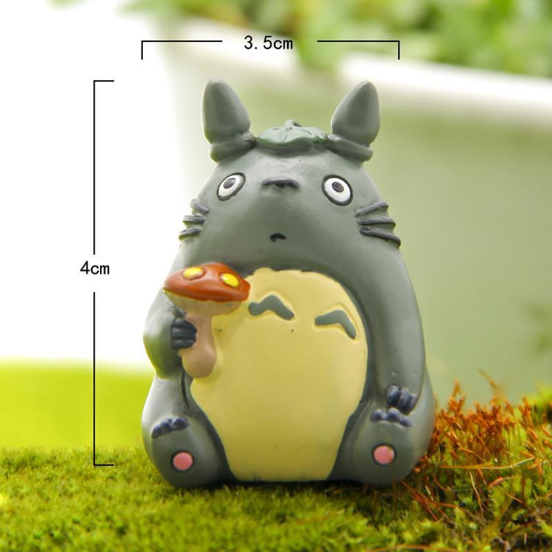 4cm Totoro With Mushroom PVC