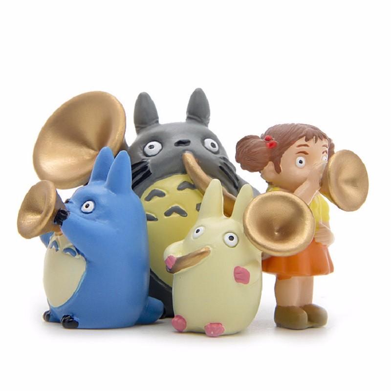 4pcs Studio Ghibli Blowing Horn Group