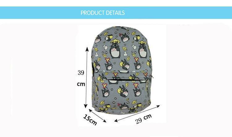 Newest Totoro Cartoons Backpack 2021