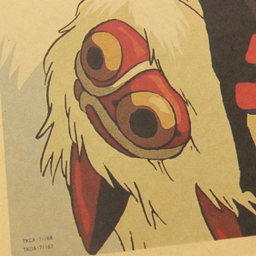 Hot Princess Mononoke Retro Poster