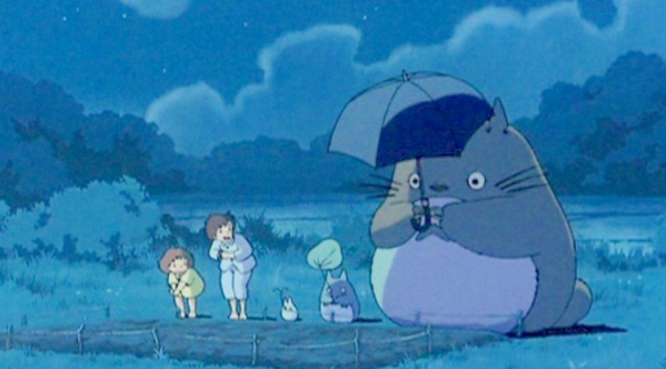 The characters in the movie My neighbor Totoro