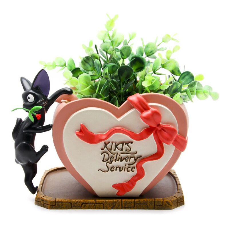 1set JiJi Cat Rose Heart Shaped Flower
