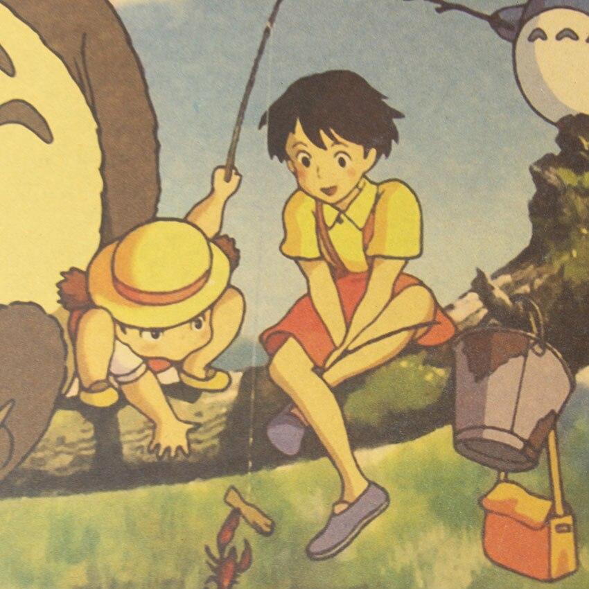 Retro Totoro Kraft Paper Posters