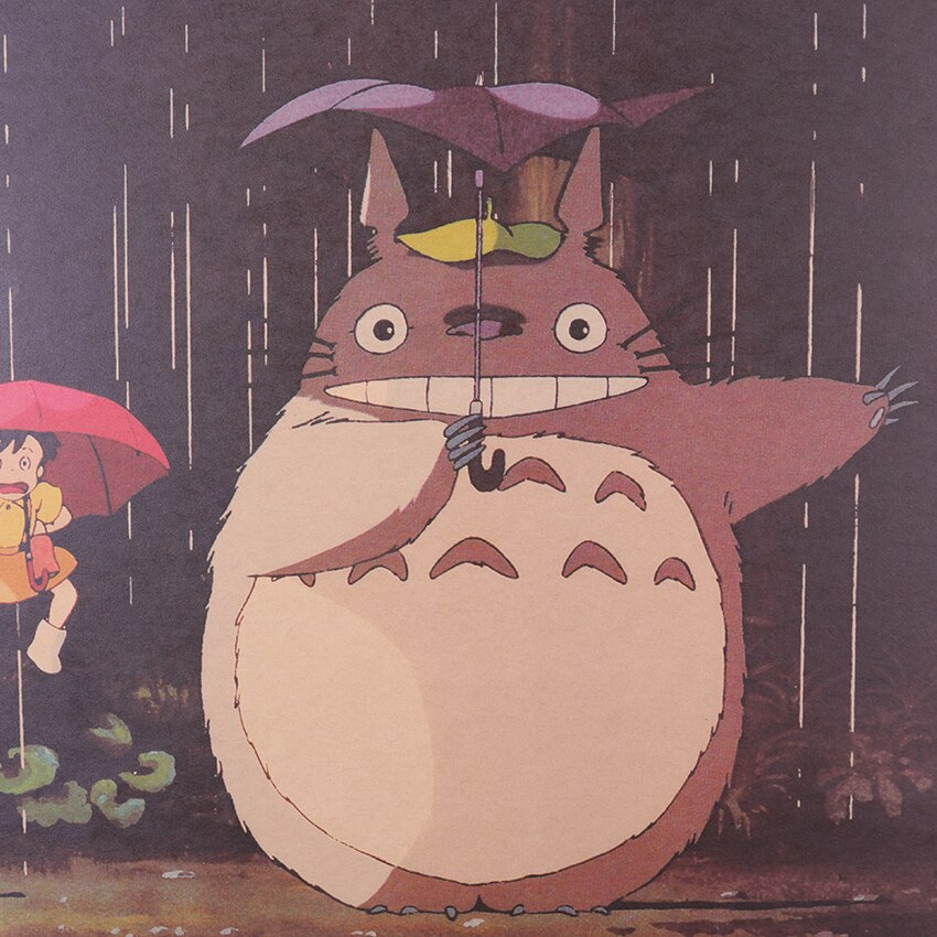 Cartoon Anime Totoro Poster Retro