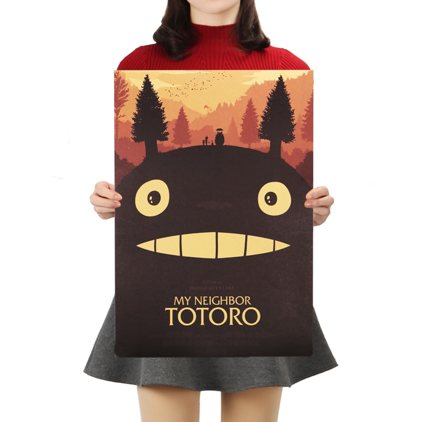 My Neighbor Totoro Kraft Paper Vintage Poster