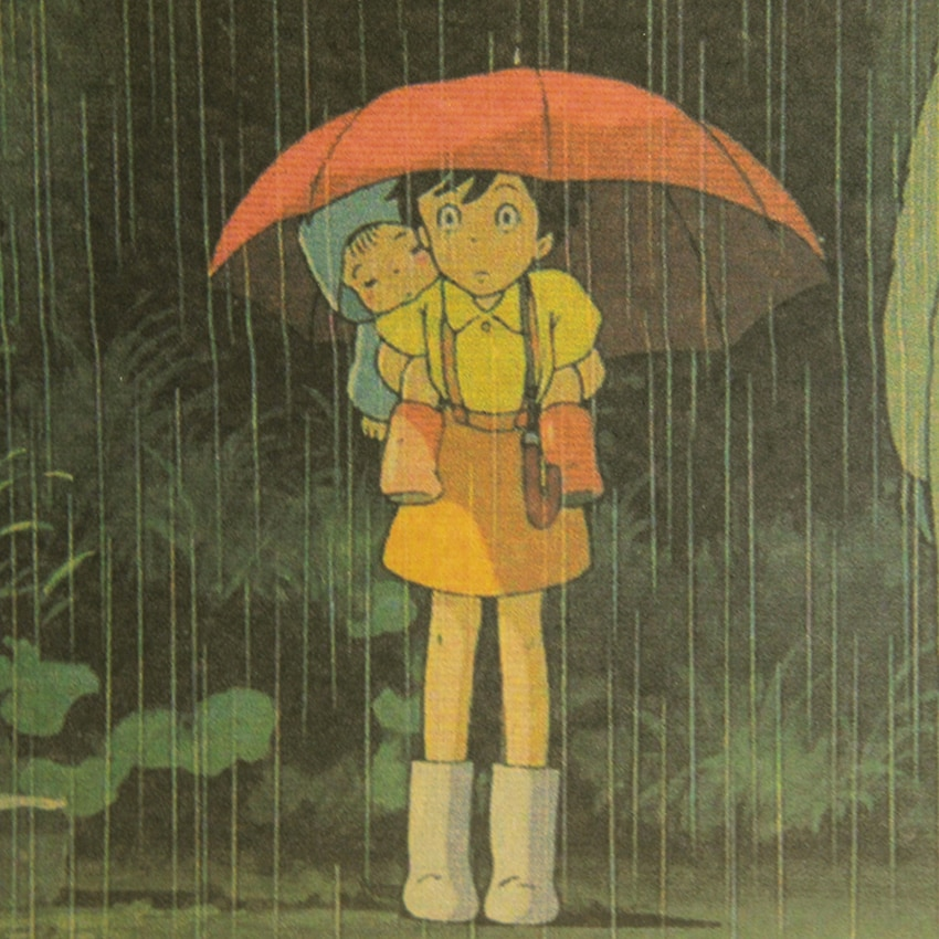 Hot Vintage Cartoon Anime Totoro Poster