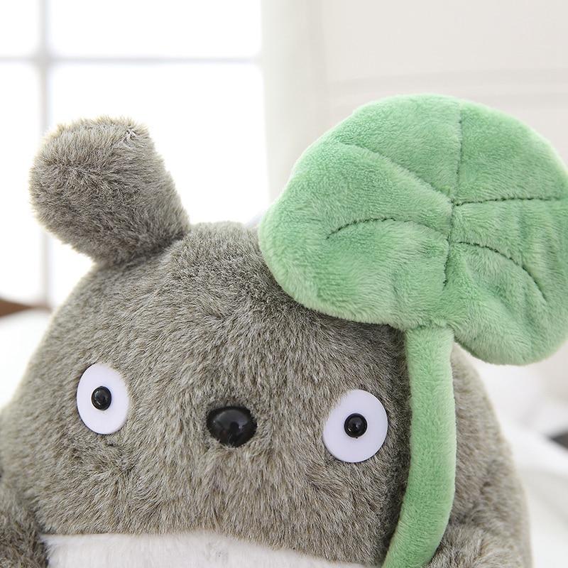 20 cm Soft Totoro Plush With Lotus Leaf