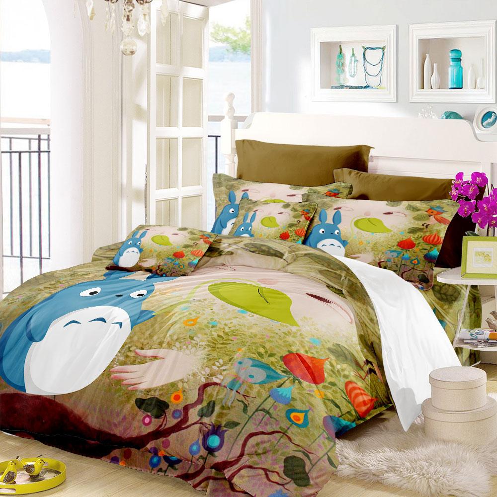 Adorable Totoro Blue Bedding Set So Cute