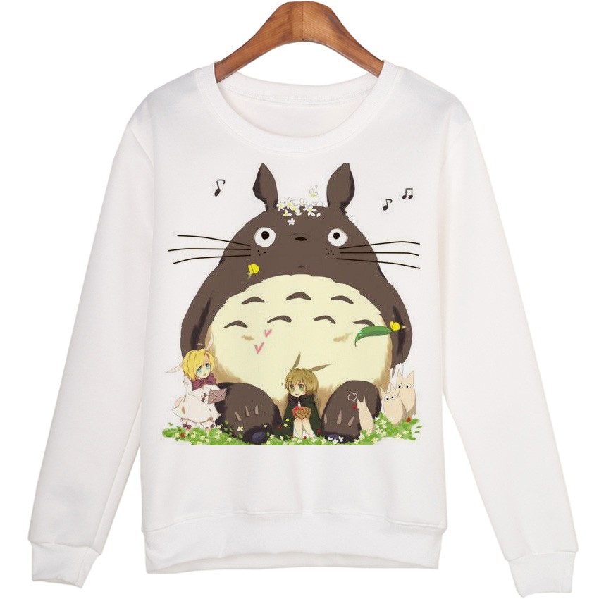 Totoro Winter Hoodies Funny Cute